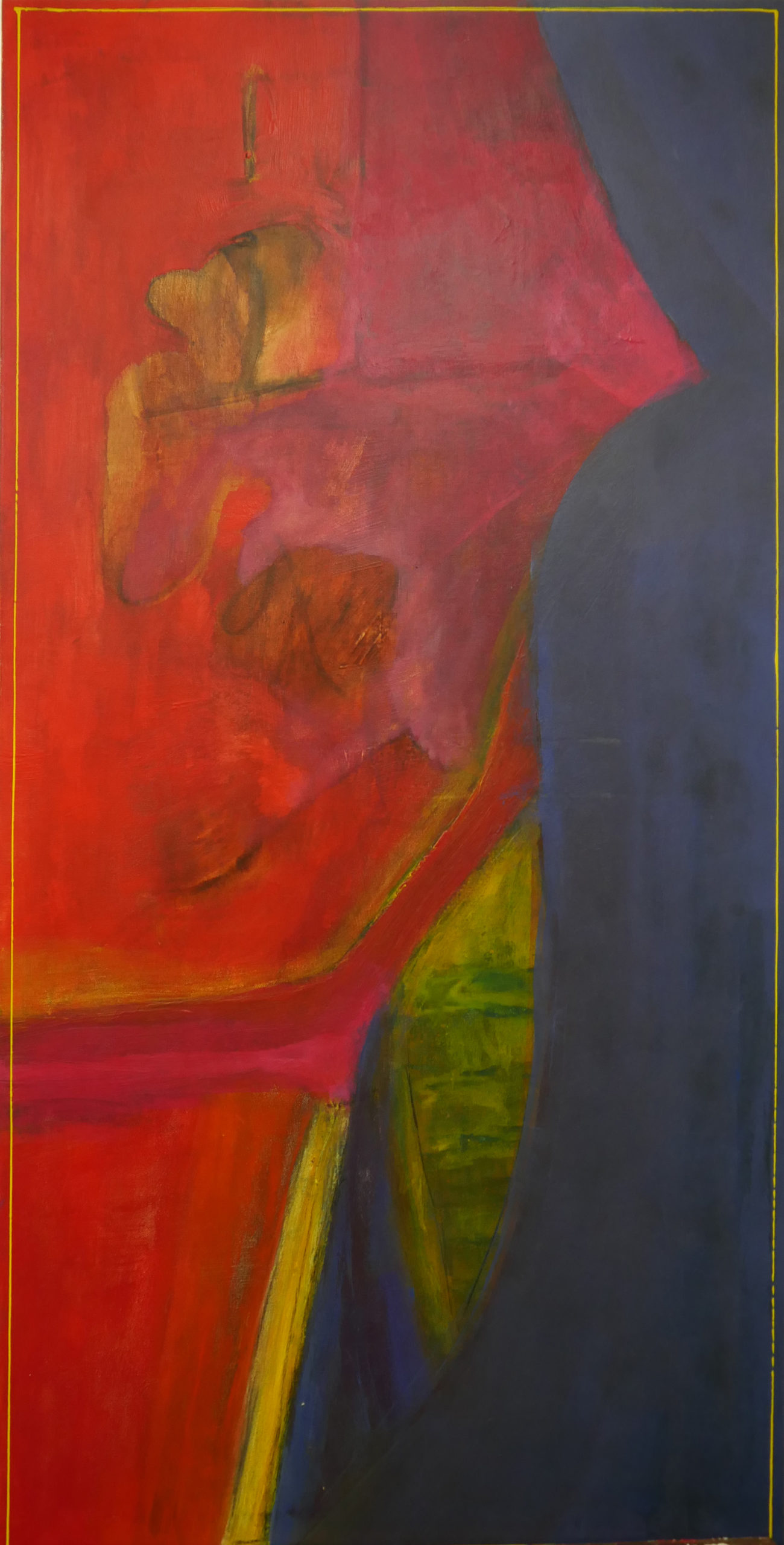 Oehrlein Malerei blau-rot-gelb dominierend