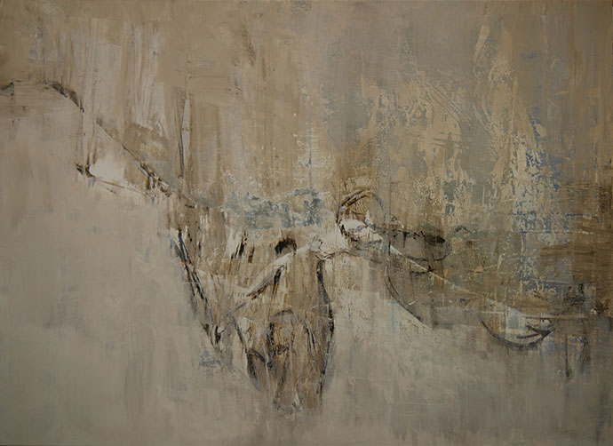 Oehrlein Malerei große Formate Winterbild