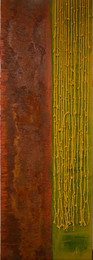 Oehrlein Malerei und Textiles mit Rost
