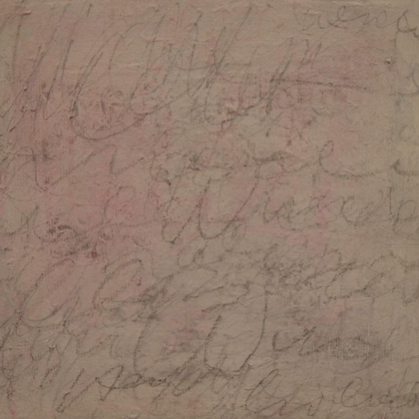Collage mit Schrift rosa