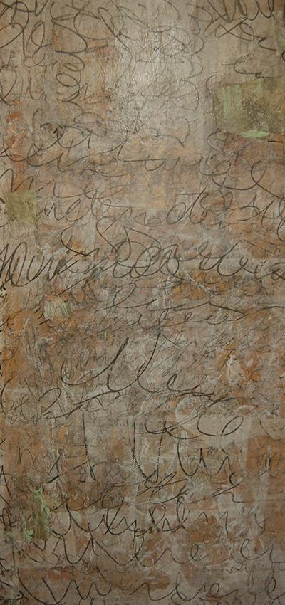 Collage mit Schrift