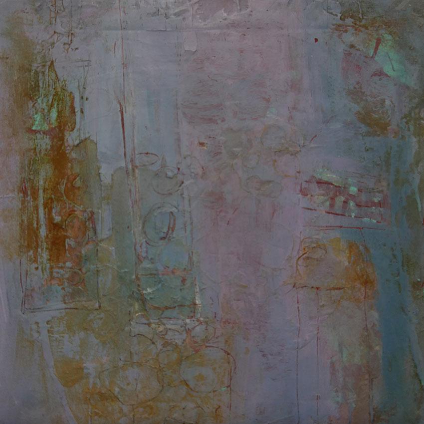 Oehrlein Gabriele Malerei mit Rost Blau