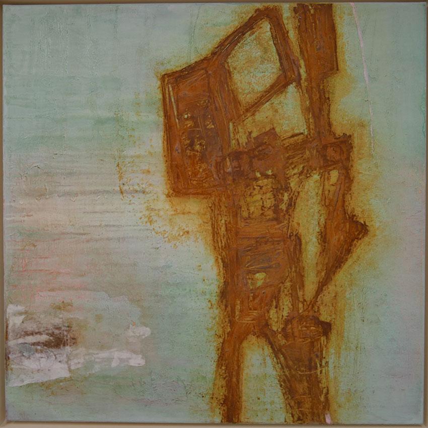 Malerei mit Rost Oehrlein